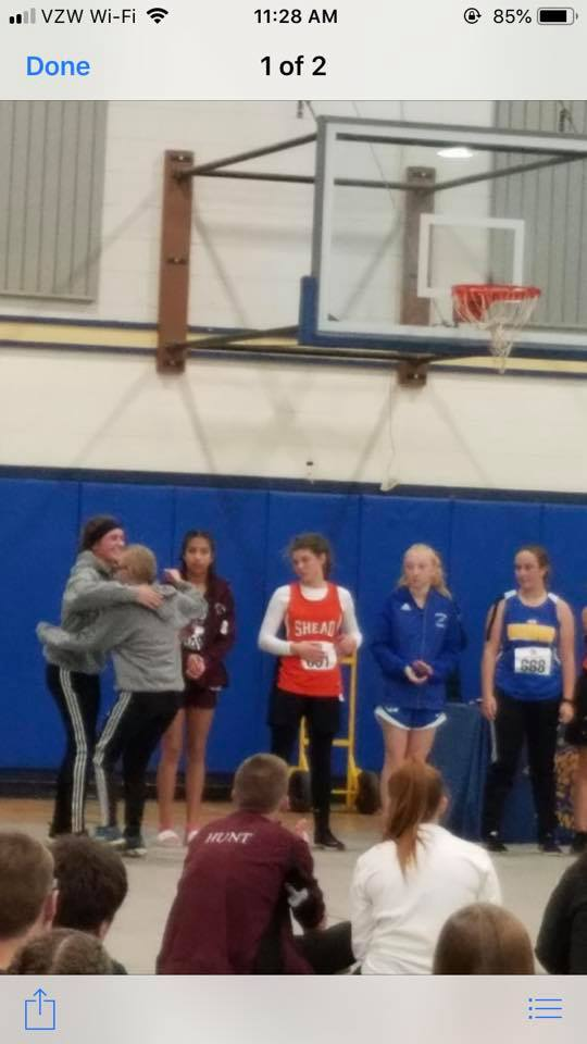 Congrats to Emma Landry and Breanna Beaulieu for making it to States in XC running! - Courtesy of Jessica McLaughlin Landry