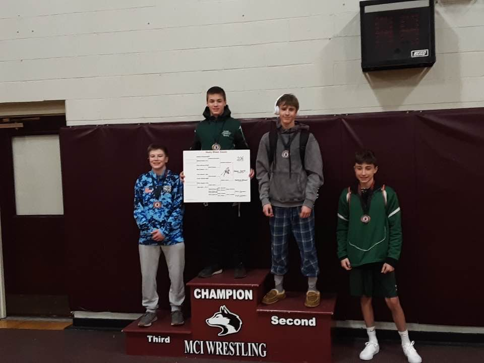 Congrats to FKCHS Wrestler Jaren Hartt who took first place today in his 120 pound weight class at the MCI Huskie Classic!!! (Tracey Hartt photo credit)